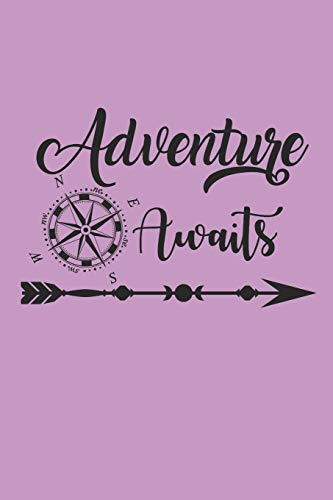 ADVENTURE AWAITS: Camping Outdoor Notebook Camper dotted Notizbuch Planer 6x9 Punkteraster dot grid