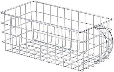 『ワイヤー』四角タイプバスケット「30×15×12cm」/メタル仕上げ 55-14