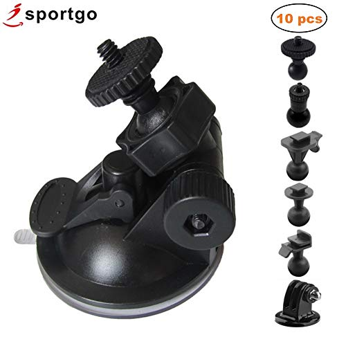 iSportgo S30 Dash Cam Suction Mount with 10pcs Joints for REXING,Z-Edge,Old Shark,YI,KDLINKS,Falcon Zero,Transcend,Crosstour,VANTRUE,GoPro Hero and Most Other Dash Cameras DVR GPS