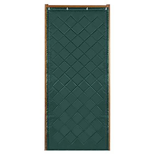 WUFENG Rideau De Porte Épaissir Garder Au Chaud Isolation Coupe-vent Rideau De Séparation, 3 Couleurs 19 Tailles (Couleur : Green, taille : 110x200cm)
