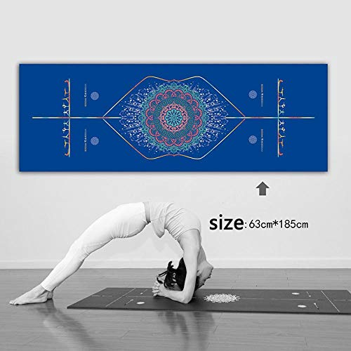 Yoga Mat Yoga Pad Towel Anti Slip Print Sweat Absorbing Pilates Mat Bodybuilding Foldable Soft Outdoor Beach Gymnastics Exercise Mat Diamondlattice-3