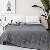 YOUR MOON Weighted Blanket Tex Certified | Hypoallergenic Heavy Blanket with 100% Breathable Cotton | Premium Glass Beads | Cooling Weighted Blanket for Adult and Kids