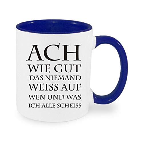 Crealuxe ACH als goed de niemdand wit op wat en wijn. - Koffiemok met motief, bedrukte mok met spreuken of afbeeldingen