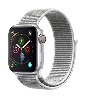 Apple Watch Series 4 (GPS + Cellular, 40mm) - Silver Aluminum Case with Seashell Sport Loop (B07J1T66KM) | Amazon price tracker / tracking, Amazon price history charts, Amazon price watches, Amazon price drop alerts