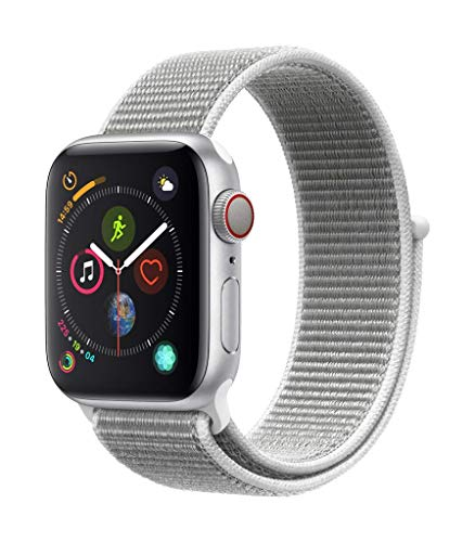 Apple Watch Series 4 (GPS + Cellular, 40mm) - Silver Aluminium Case with Seashell Sport Loop
