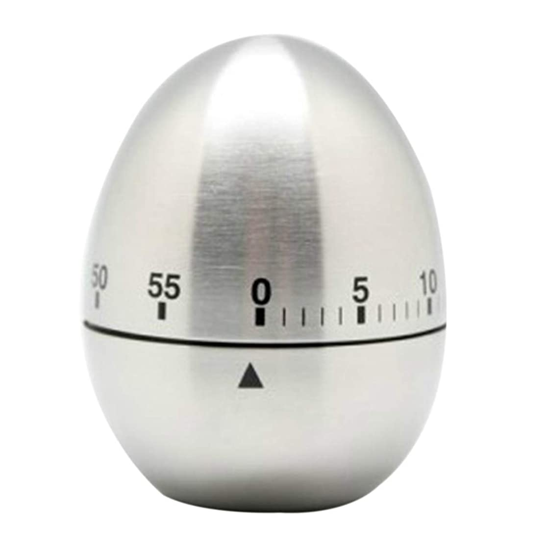 Stainless Steel Egg Kitchen Timer,Adv-one 60 Minutes Countdown Kitchen Cooking Mechanical Rotating Alarm Timer Clock Sports Games Learn Office foqseasa41531