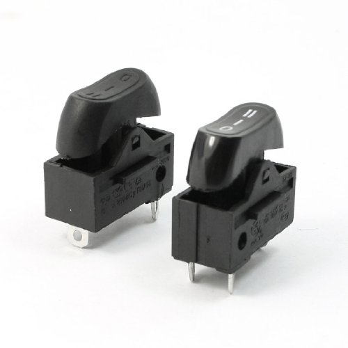 Aexit AC 250V 10A SPDT 3 polos 3 posiciones Terminales Interruptor basculante Par para (model: P7256VIIO-9740QU) secador de pelo