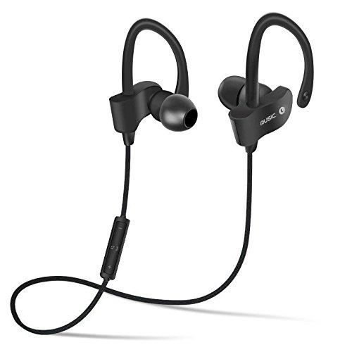 OurLeeme Wireless Stereo Bluetooth V4.1 Sport-Kopfhörer On-Ear-Kopfhörer Ohrhörer Freisprecheinrichtung Headset für iPhone Samsung LG und andere Smartphones Schwarz