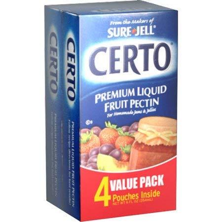 Certo Premium Liquid Fruit Pectin, 1.5 fl oz Pouch, 4 count (Pack of 1)