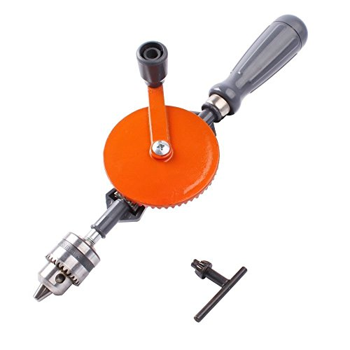 WISAMIC Handbohrmaschine Mini Hand Handbohrer 1/4 Zoll mit Doppelritzeln Design 3-Backen-Spannfutter