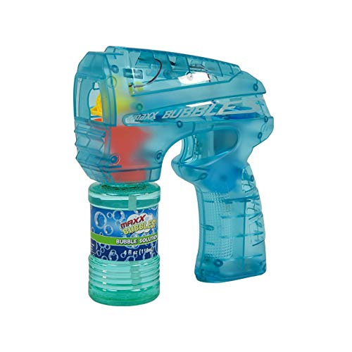 Sunny Days Entertainment Bubble Blaster with Light – LED Bubble Blower Toy | Summer Fun, Outdoor Birthday Party Favors for Kids | Color May Vary – Maxx Bubbles
