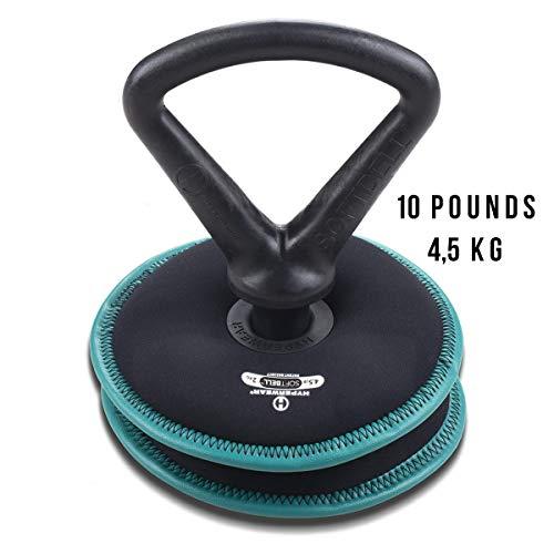 HYPERWEAR Soft Adjustable Kettlebell 10 lbs 4,5 kg | Kugelhantel mit Verstellbares Gewicht | Premium Qualität für Gym, Fitness zu Hause und Crossfit