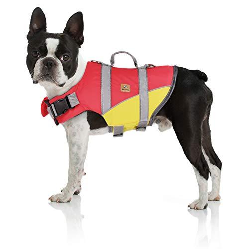 Bella & Balu Schwimmweste für Hunde – Reflektierende Hundeschwimmweste für maximale Sicherheit im und am Wasser beim Schwimmen, Segeln, Surfen, SUP, Bootsausflügen, Kayak und Kanu Fahren (Größe S)