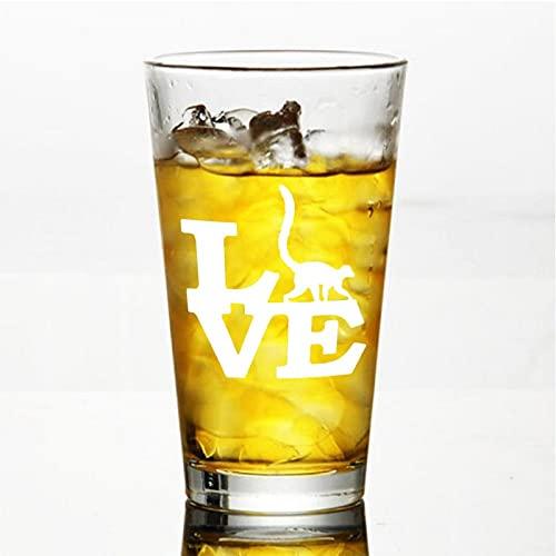 Lemur Love - Copa de vino sin tallo, vaso de whisky grabado, perfecto para padre, mamá, niño o amiga