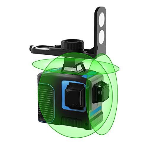 HANMATEK LV3D Green Beam Self-Leveling Laser Level 3x360 Cross Line Three-Plane Leveling and Alignment Laser Level,Two 360° Vertical and One 360° Horizontal Line floor tile construction, marking tool