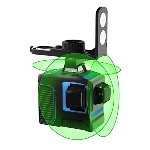 Cross Line Laser Green 3 x 360 Croix Horizontale et Verticale Super Strong Green Laser Beam Line 3D Green Beam Auto Level Laser Multifonction
