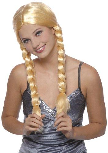 Boland 86187 - pruik Natacha met lange, gevlochten vlechten, blond