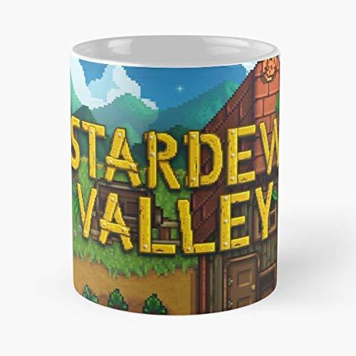 Abigail Valley Indie Robin Game Stardew Romantic Best Taza de café de cerámica de 315 ml con texto en inglés