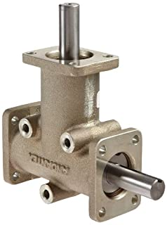 "Andantex R3203 Anglgear Right Angle Bevel Gear Drive, Universal Mounting, Single Output Shaft, 3 Flanges, Inch, 5/8"" Shaft Diameter, 1:1 Ratio, 1.21 Hp at 1750rpm (B00852JERA) 
