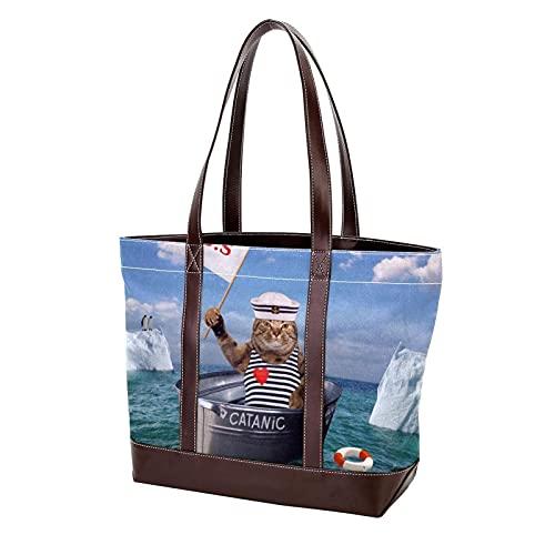 NaiiaN Bolso de compras, bolsos de hombro, bolso de mano, barco catánico, correa ligera para madres, mujeres, niñas, señoras, bolsos para estudiantes