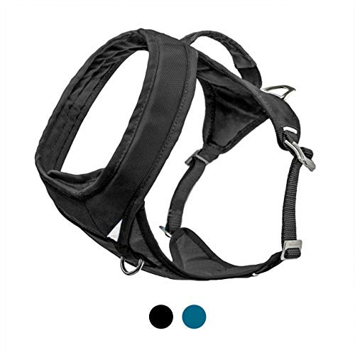 Kurgo Go-Tech Adventure Dog Harness with Front Clip, Easy On and Off Pet Harness, Reflective Dog Harness for Running, Hiking, and Walking, Large, Black