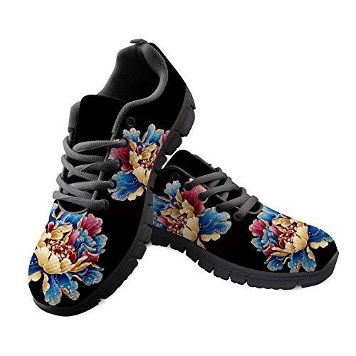 Chaqlin - Zapatillas Informales para Caminar y Correr, diseño de Flores