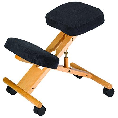 Klassieke knielstoel – Ergonomische stoel ontworpen om rugpijn te helpen verlichten en de houding te verbeteren – bureaustoelen voor slechte rugleuningen