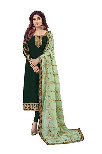 Indian Women Designer Partywear Ethnic Traditonal Green Salwar Kameez.