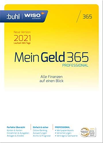 WISO Mein Geld Professional 365 (aktuelle Version 2021) (Frustfreie Verpackung)|2021|1 Gerät|1 Jahr|PC|Disc|Disc