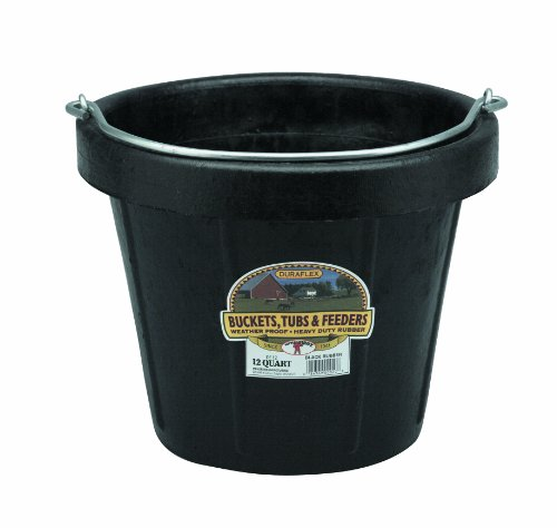 Marshalltown 12 Quart Heavyweight Rubber Pail with Standard Lip