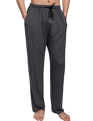 Aibrou Pantalones Pijama Hombre Algodón,Patalon para Dormir Casa Largo Muy Suave Transpirable y Comodo