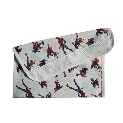 Panini Tessuti, Spiderman Porte-bavoir pour maternelle, école maternelle, 100 % coton, fabriqué en Italie, 16 x 30 cm