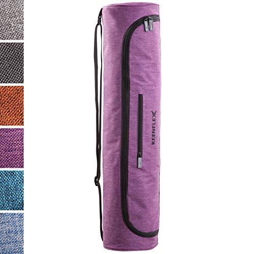 KeenFlex Yogatasche - Tasche für Yoga Matte - Wasserdichtes Gewebe - Komfortabel und Leicht (Lila)