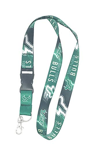 WinCraft USF Bulls Premium Lanyard, School Colors, Lightning Edition, 23 inches Long, 1 inch Wide with Detachable End