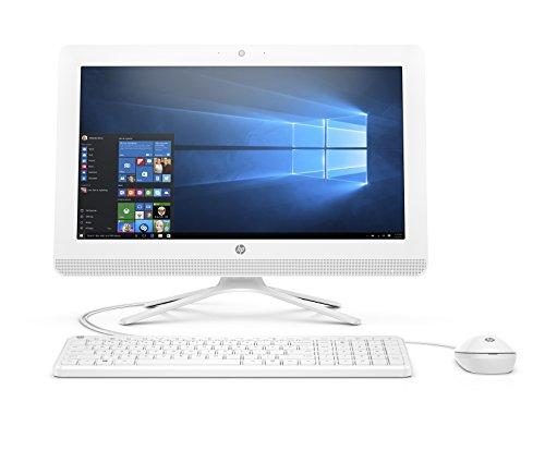 "HP 20 -c405ns - All in One - Ordenador de sobremesa 19.5"" FullHD (AMD A4-9125, 4GB RAM, 1TB HDD, AMD Radeon R3, Windows 10), color blanco con teclado QWERTY Español y ratón"