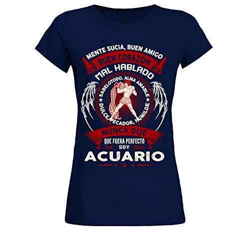 TEEZILY Camiseta Mujer Soy Acuario - EDICIÓN Limitada