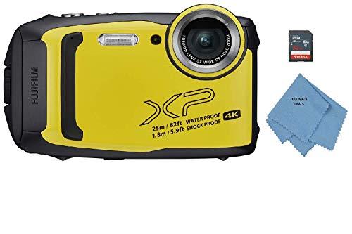 Fujifilm FinePix XP140 Waterproof Digital Camera w/32GB SD Card - Yellow (Renewed)