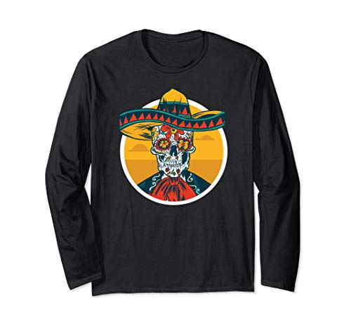 Dia de Los Muertos Fun Day of the Dead Meme Skeleton Man Long Sleeve T-Shirt