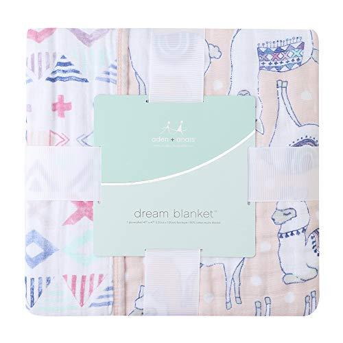 エイデンアンドアネイ クラッシックドリーム ベビー ブランケット 出産祝い おくるみ ギフト (カラー:Trail Bloom) Aden+Anais Classic Dream Blanket [並行輸入品]