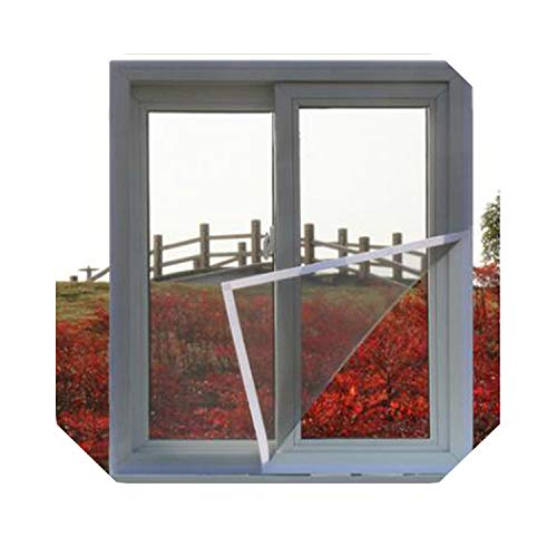 Eileen Ford Netz für Zwilling |DIY Moskito Fensternetz Polyesterfaser Anti-Mücke Mit Magic Sticker Fensternetz Einfache Installation Akzeptieren Benutzerdefinierte Größe-02-W120 X H120CM