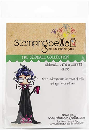Stamping Bella Haftstempel Oddball mit Kaffee, Blau