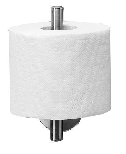 FACKELMANN Toilettenpapierbevorrater Fusion, vernickelter Klopapierhalterung (Farbe: Silber), Menge: 1 Stück