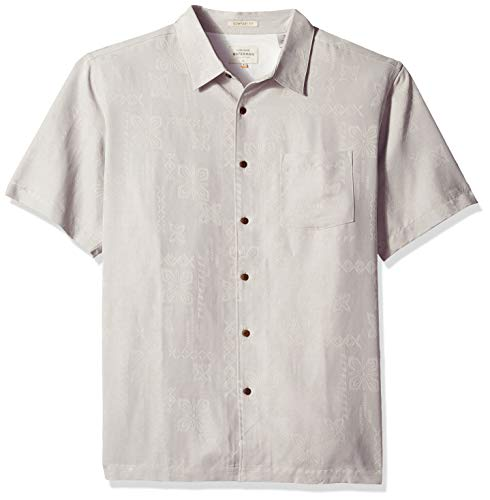 Quiksilver Waterman Men's Kelpies Bay Button Down Shirt, Flint Gray, XL