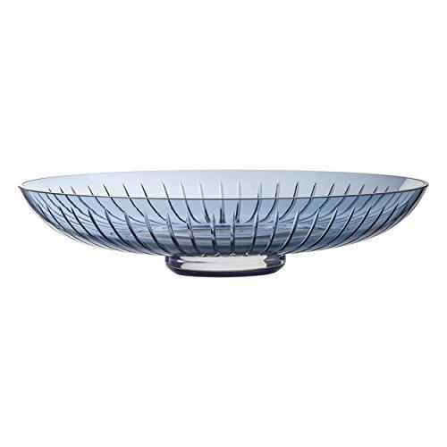 Zwiesel 1872 Signum Schale, Mundgeblasene Vase, Windlicht, Blumenvase, Midnight Blue, Glas, D 34 cm, 120194