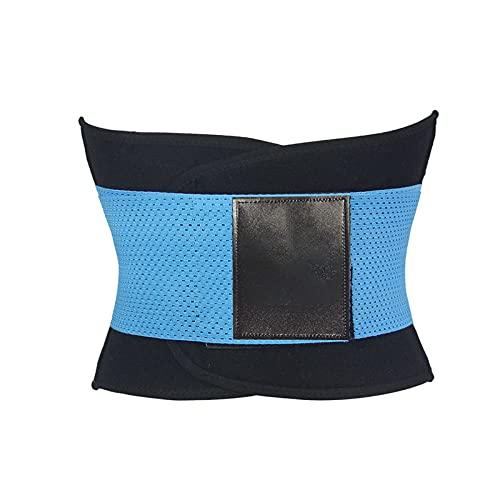 MVNZXL Cintura Entrenador, Fajas Reductoras Adelgazantes Mujer para Gimnasio, Cinturón Lumbar Abdominal de Ayuda para Sudar y Hacer Deporte, para Deporte Fitness(Color:Blue,Size:X-Large)