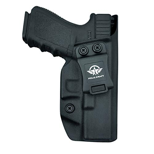 Glock 19 Holster IWB Kydex For: Glock 19 / Glock 19X / Glock 23 / Glock 25 / Glock 32 / Glock 45 (Gen 1-5) Pistol - Cintura interior Transporte oculto - Botón Mag superpuesto - Entrada ensanch