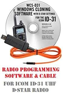Icom ID-31 (ID31) UHF Two-Way Radio Programming Software & Cable Kit