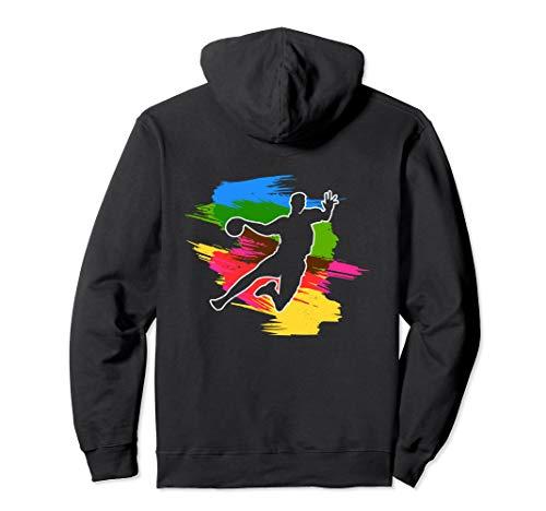 Cooler Handballspieler mit Harz Ball Handball Pullover Hoodie