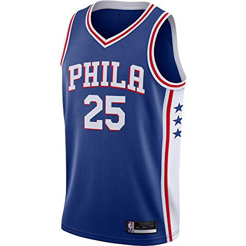 Ben Simmons Philadelphia 76ers #25 Official Youth 8-20 Swingman Jersey (Small 8, Ben Simmons Philadelphia 76ers Blue Icon Edition)