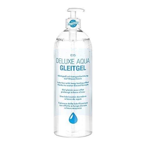 Gel lubrifiant Deluxe Aqua (M'ga Pack 1 litre) de EIS, un effet prolong' … base aqueuse